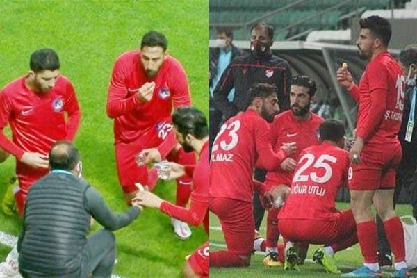 Muslim Players Break Their Ramadan Fast During A Football Match In Turkey [Video]