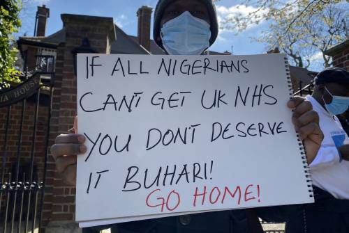 Nigerian Government Attempts To Bribe London-based Activist To Cancel Protests Against Buhari's Medical Vacation