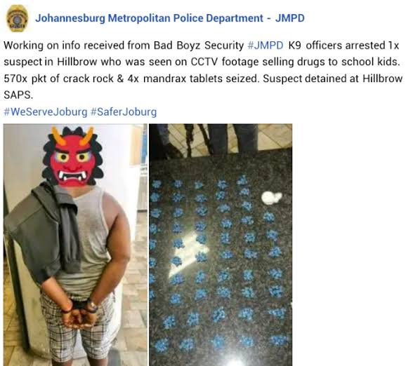 Nigerian Man Arrested For Allegedly Selling Drugs To Schoolchildren In South Africa 2
