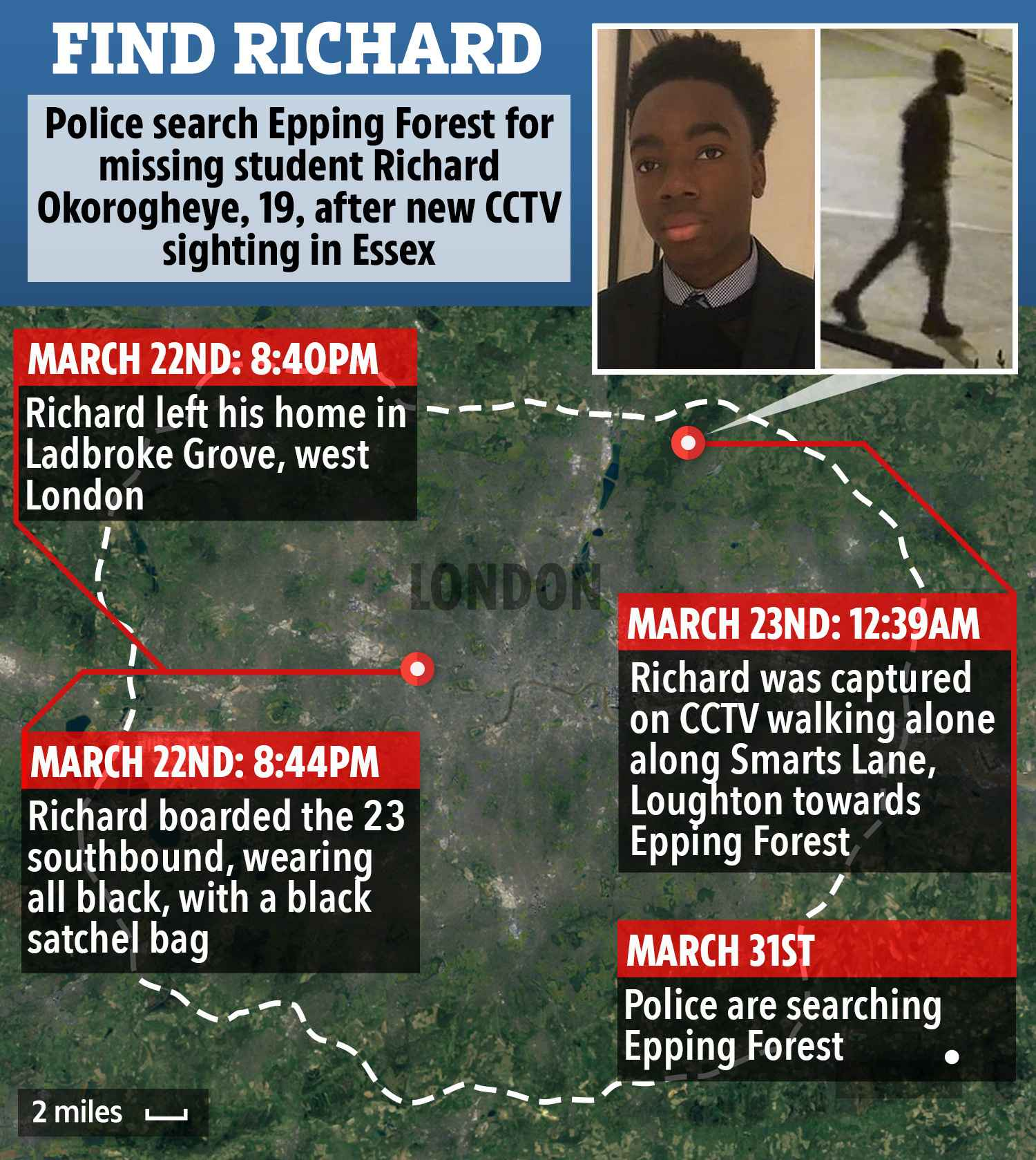 Nigerian Student, Richard Okorogheye Found Dead In UK Pond After He Was Declared Missing 2