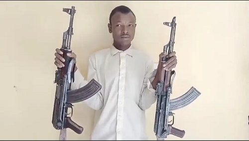 Notorious Kidnapper Arrested With AK-47 Rifles in Kano (Photo)