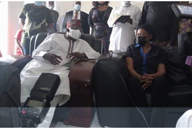 Odumakin's Wife Receives Condolence Visit From Tinubu In Lagos