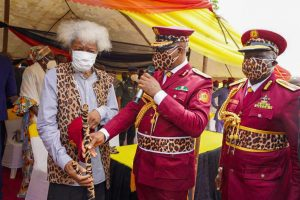 PHOTO NEWS: Soyinka decorated as Amotekun Marshall
