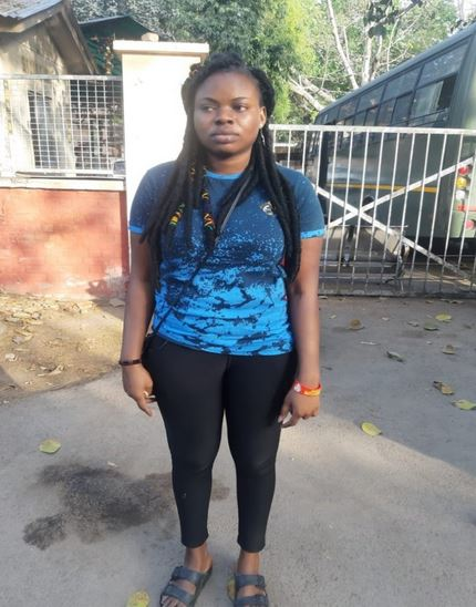 Photo Of Nigerian Woman Deported From India For Illegal Stay
