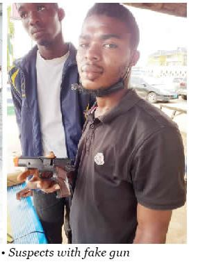 Photo Of Two Men Nabbed For Robbing Lagos Residents With Fake Pistol