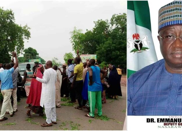 Protesting Workers Blocks Nasarawa Deputy Governor's Convoy Over Unpaid Salaries