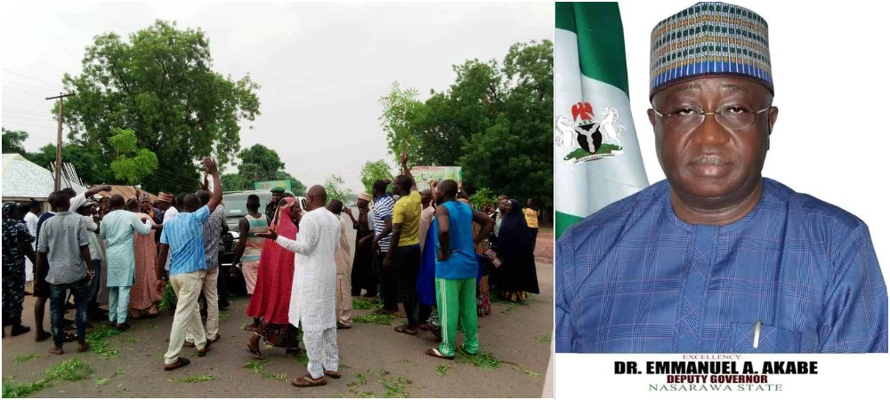 Protesting Workers Blocks Nasarawa Deputy Governor's Convoy Over Unpaid Salaries 1