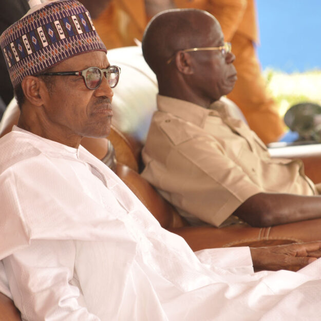 Stop All Forms of Divisive Politics, Buhari Advices Oshiomhole at 69