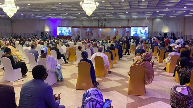 Tinubu, Alakija others present as Aisha Buhari presents biography
