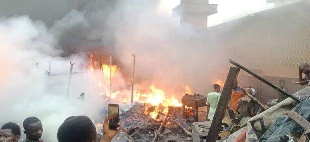 Traders lose millions as fire razes Ibadan auto spare parts market