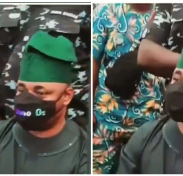 VIDEO: Mc Oluomo Wears Electric Face Mask to Owambe Party in Lagos