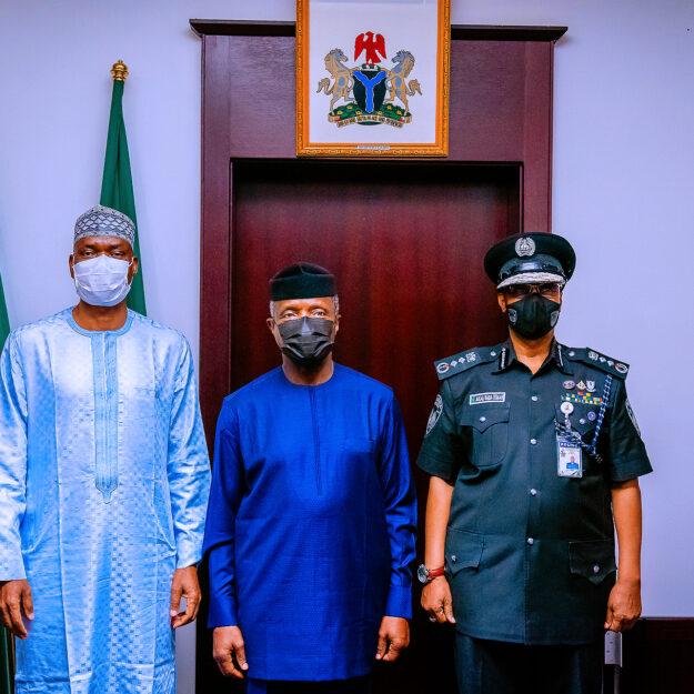 VP Osinbajo decorates new Acting IGP, Usman Baba