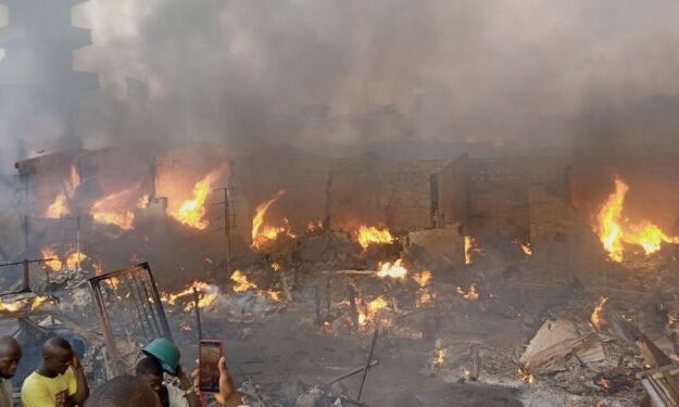 Wailings As Midnight Fire Razes Popular Ibadan Auto Parts Market