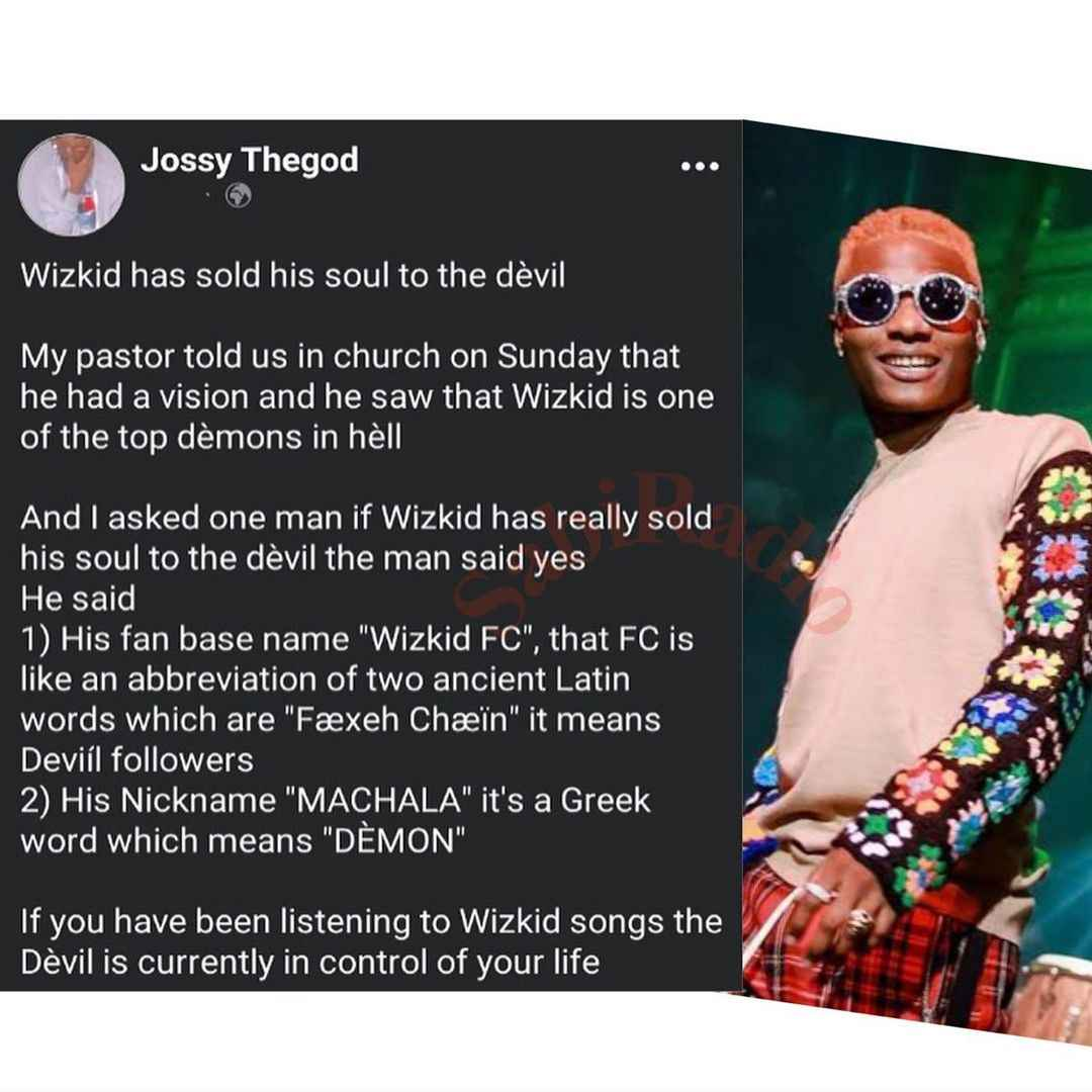 """""""Wizkid Sold His Soul To Devil, He's One Of The Demons In Hell"""" - Nigerian Pastor Claims 2"""