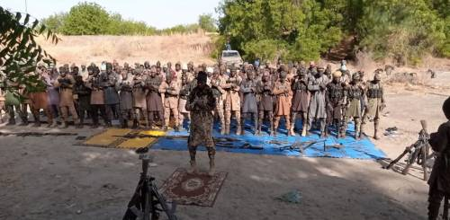 Boko Haram Terrorists Dare Nigerian Army, Openly Observe Eid-el-Fitr Prayer (Photos)