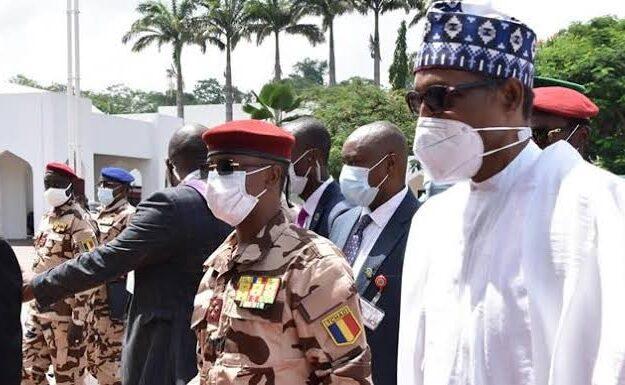 BREAKING: Buhari Meets Chad's Acting President