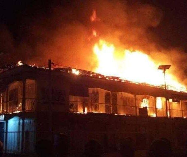 BREAKING: Fire Guts Cairo Market In Oshodi, Lagos