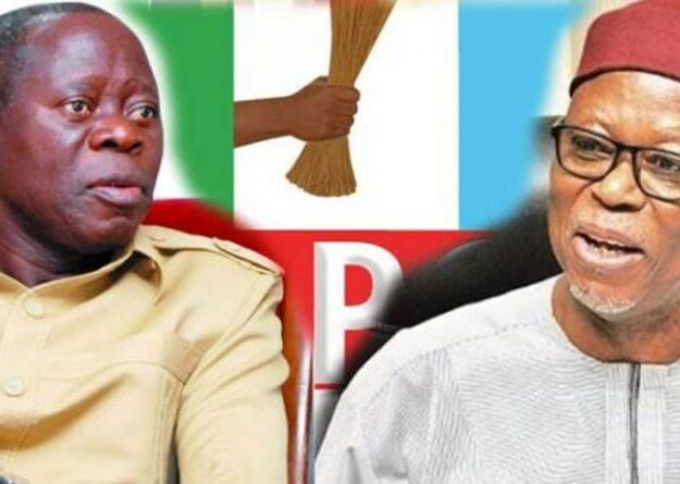 Finally, Oshiomhole, Oyegun kiss and make up