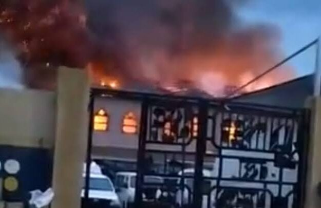 Fire Guts Redeemed Church In Lagos