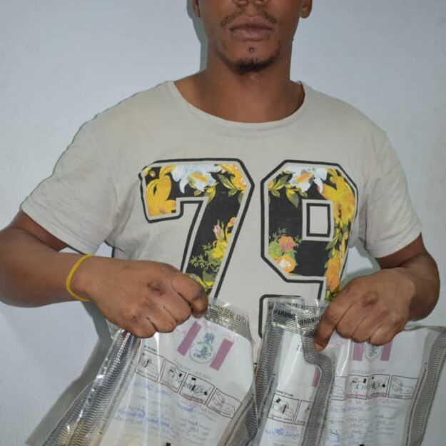 Italy-Bound Nigerian Man Douglas Excretes 59 Wraps Of Heroin at Abuja Airport (Photo)