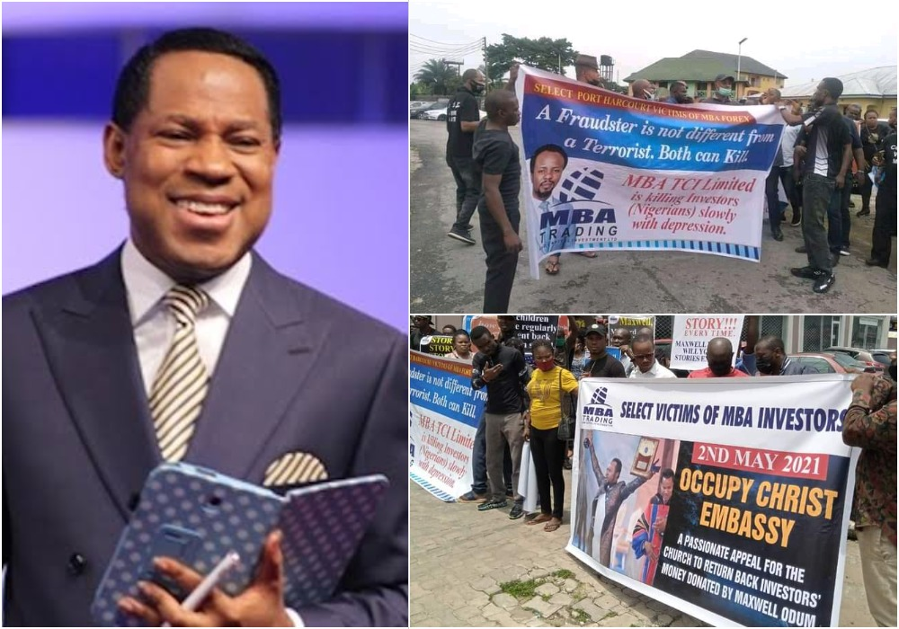 MBA Forex Victims Protest At Christ Embassy, Ask Pastor Oyakhilome To Return Investors' Money 1