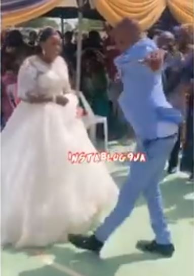 Nigerian Man Causes Stir With His Dance Moves On His Wedding Day (Video)