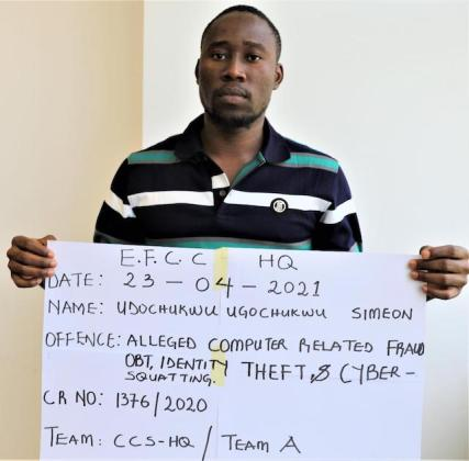 Notorious Fraudster Ugochukwu Simeon Arrested for Cloning EFCC E-mail Addresses (Photo)