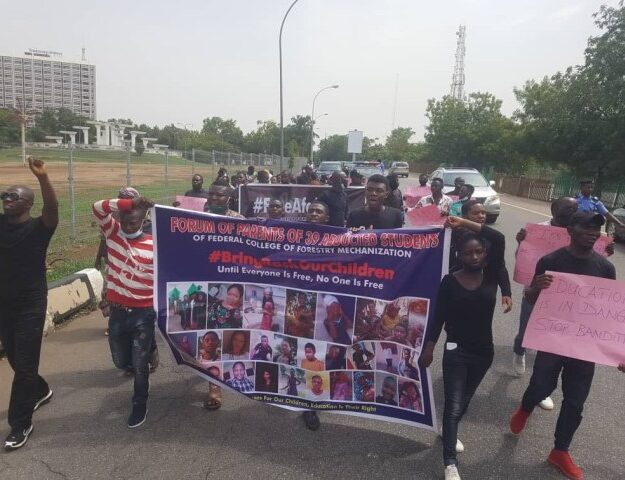 Parents of abducted Greenfield university students stage protest at national assembly complex –…