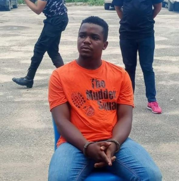 Photos Of Uduak Akpan, The Suspected Killer of Akwa Ibom Job Seeker Paraded Today