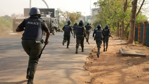 Police Arrest Driver As Truck Loaded With Ammunition Falls In Anambra