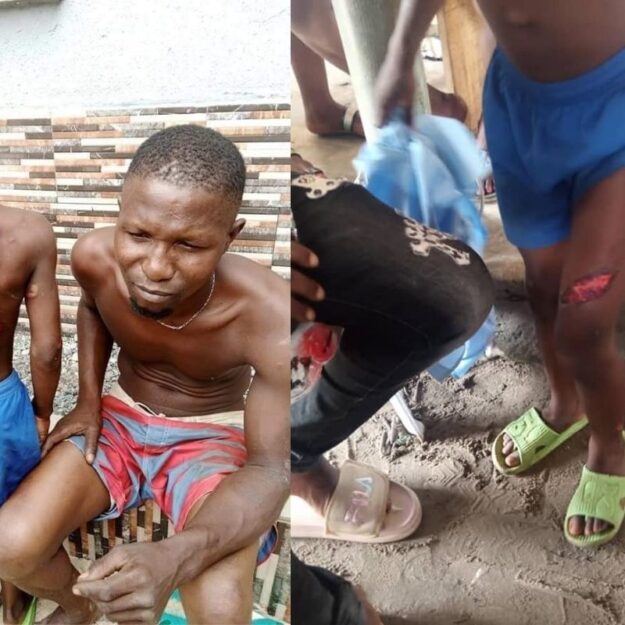 Police Arrests Man For Brutalizing His Son With Hot Knife And Cutlass In Delta State [Photos]