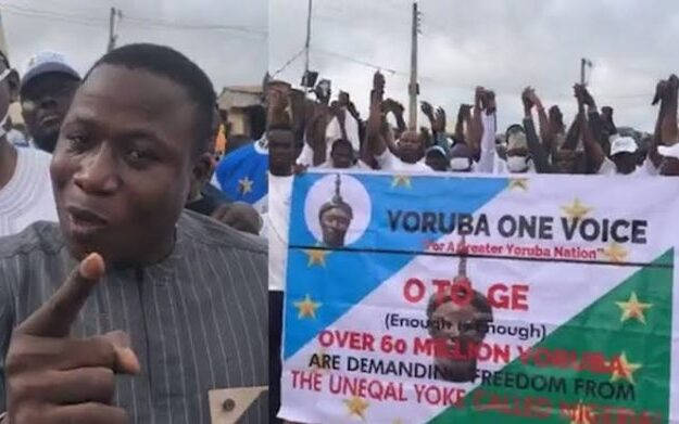 Sunday Igboho boosts Osun rally by Youths demanding Oduduwa nation