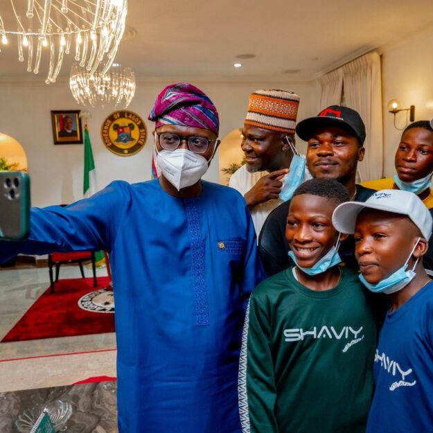 'We Are Proud Of You' – Governor Sanwo-Olu Says As He Poses With Ikorodu Bois (Photos)