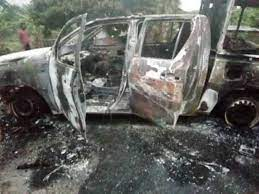 Bandits bomb police station, burn operational vehicles in Delta