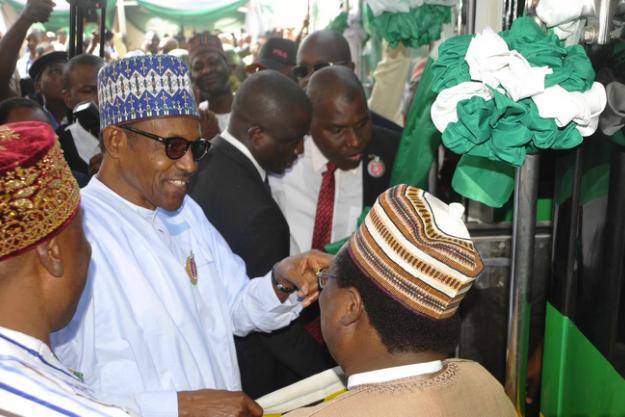 Buhari arrives Lagos, inaugurates Lagos-Ibadan standard railway gauge