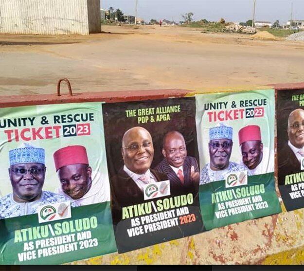 Confusion trails Atiku, Soludo's campaign posters in Abuja