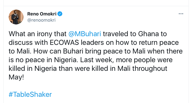 How Can Buhari Bring Peace To Mali When There Is No Peace In Nigeria? - Reno Omokri 2