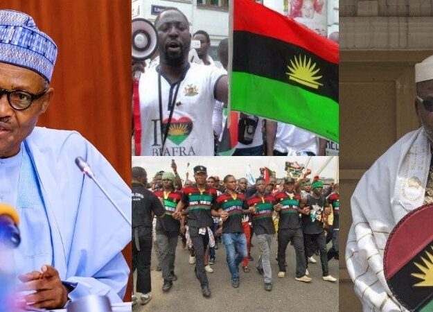 """""""IPOB Is Just Like A Dot In A Circle, Police And Army Will Defeat Them"""" – President Buhari"""