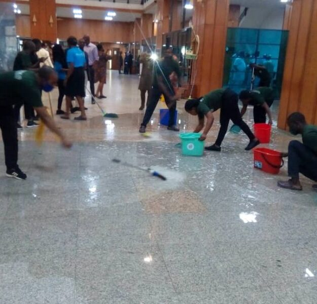 JUST IN: Leaking National Assembly Roof Disrupt Senate Plenary