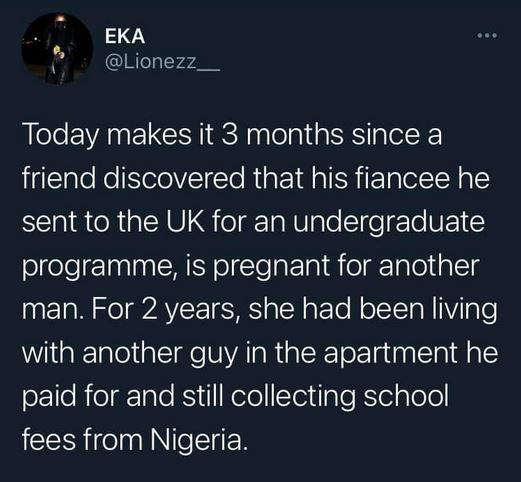 Man Slips Into Depression After Discovering That His Fiancee He Sponsored To The UK Is Pregnant For Another Man