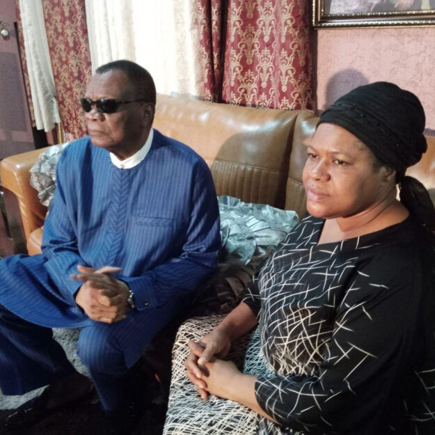 Photos Of Prophet Abiara Paying A Condolence Visits To Late T.B Joshua's Widow (Photos)