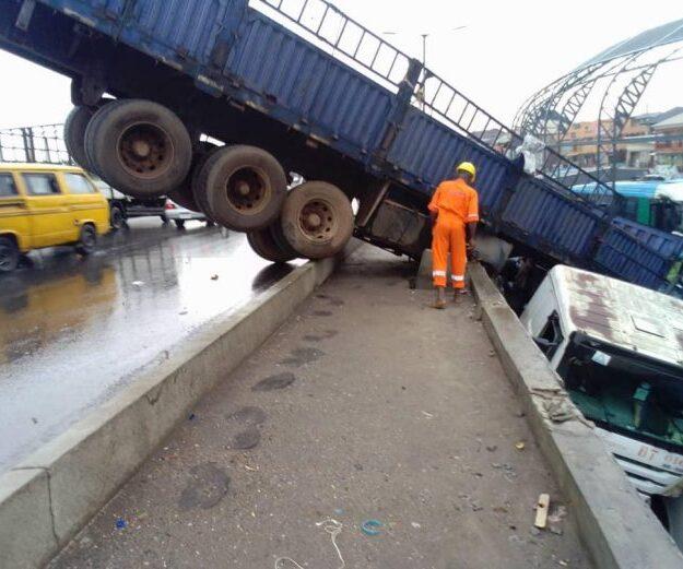 Trailer plunges into BRT Terminal in Oshodi