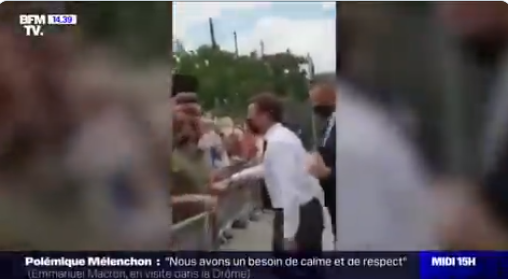 VIDEO: President Macron Slapped During Incident In South East
