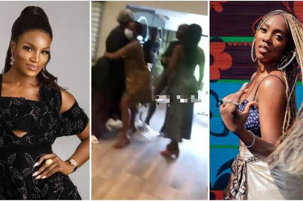 """""""Your Ny*sh Is The Dirtiest In This Industry"""" – Tiwa Savage And Seyi Shay Fights Dirty At Lagos Salon [Video]"""