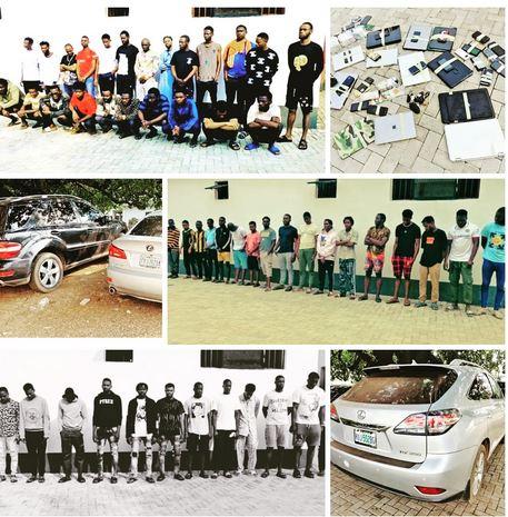 55 Suspected Yahoo Boys Arrested In Enugu And Ebonyi
