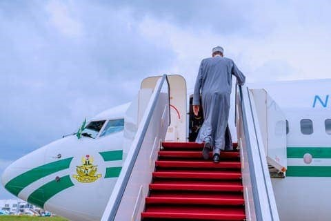 Buhari departs Abuja for education submit, medical check-up in UK