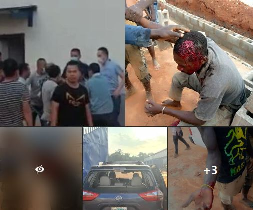 Nigerian workers assaulted by their Chinese employers