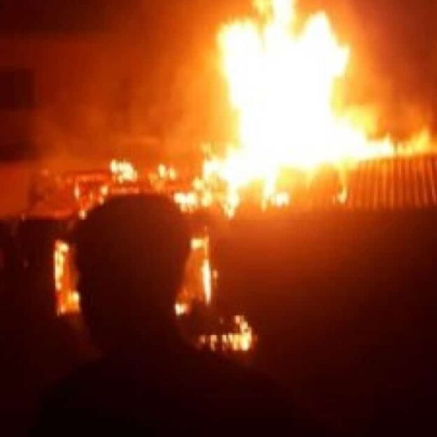 Drama As Angry Nigerian Man Goes Wild, Burns Church Building Over Alleged Failed Prophecies