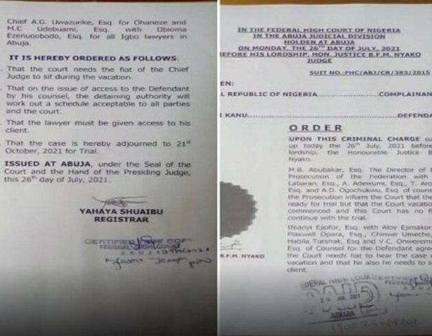 DSS denies Lawyer access to Nnamdi Kanu, Disobeys Court Order