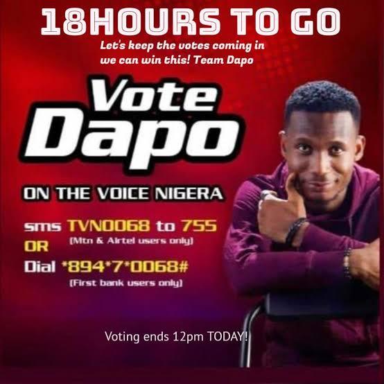 Meet Dapo, The Man Tipped To Win The Voice Nigeria 2021